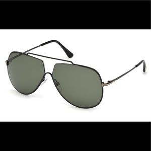 Tom Ford all black unisex Chase sunglasses